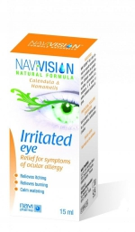 капли для воспалённых глаз NAVIVISION 15мл